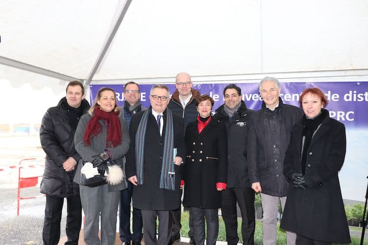 Inauguration du chantier du centre de distribution Barjane construit pour ACTION par APRC