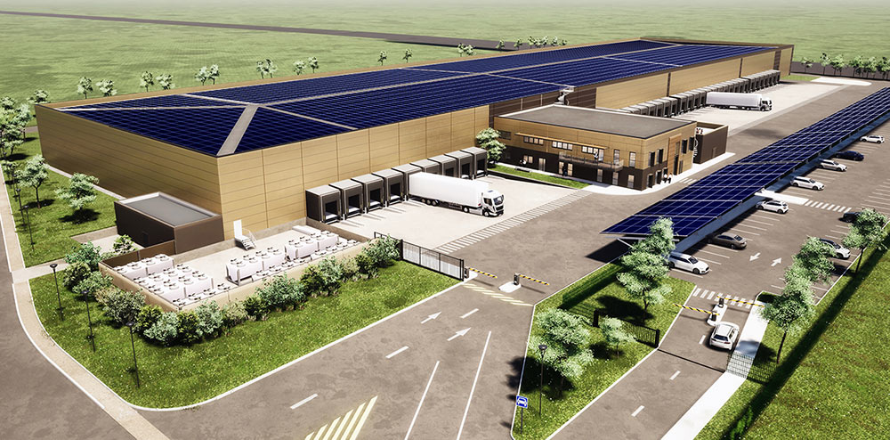 Une plateforme logistique innovante de 15.000 m², dont 1.000 m² de bureaux en ossature bois, pour Dentressangle